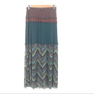 EUC Weston Wear Multicolor Print Boho Maxi Skirt